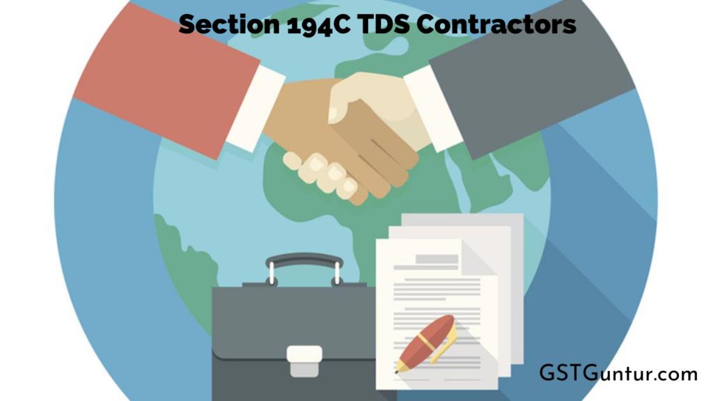 Section 194C TDS Contractors