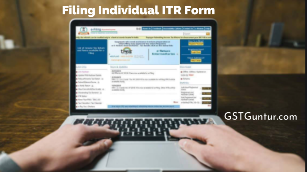 Filing Individual ITR Form