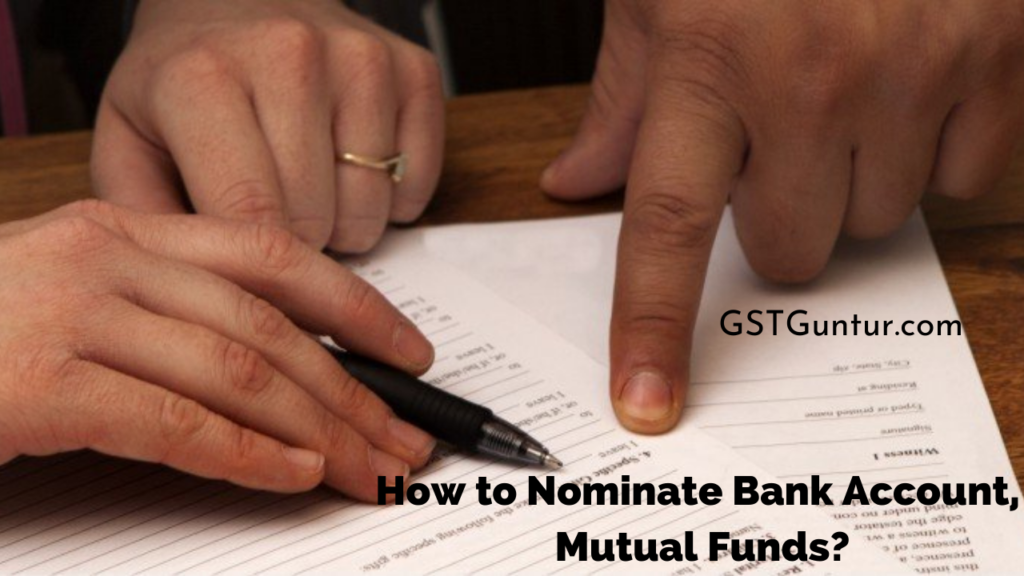 How to Nominate Bank Account, Mutual Funds