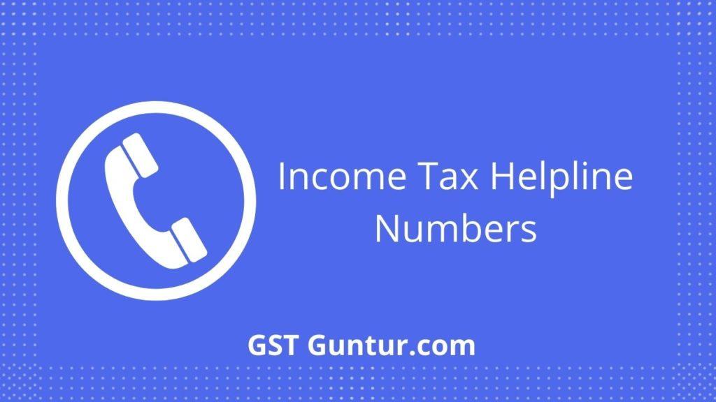 income tax helpline number