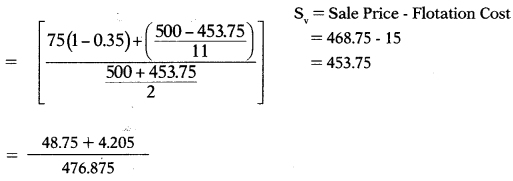 Cost of Capital – Financial and Strategic Management MCQ 20