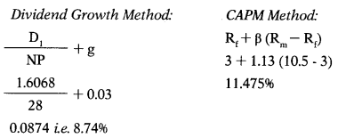 Cost of Capital – Financial and Strategic Management MCQ 28