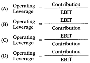 Leverages – Financial and Strategic Management MCQ 1