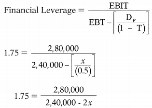 Leverages – Financial and Strategic Management MCQ 22