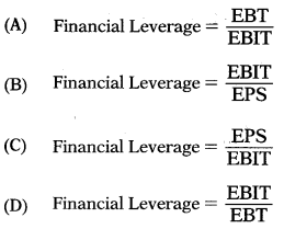 Leverages – Financial and Strategic Management MCQ 6
