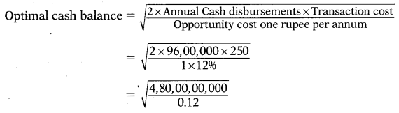 Management of Cash & Marketable Securities – Financial and Strategic Management MCQ 2