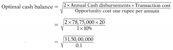 Management of Cash & Marketable Securities – Financial and Strategic Management MCQ 5