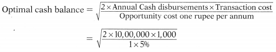 Management of Cash & Marketable Securities – Financial and Strategic Management MCQ 6