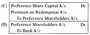 Redemption of Preference Shares – Corporate and Management Accounting MCQ 2