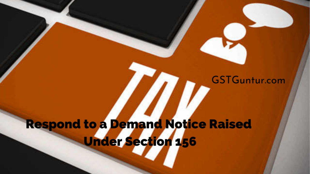 Respond to a Demand Notice Raised Under Section 156