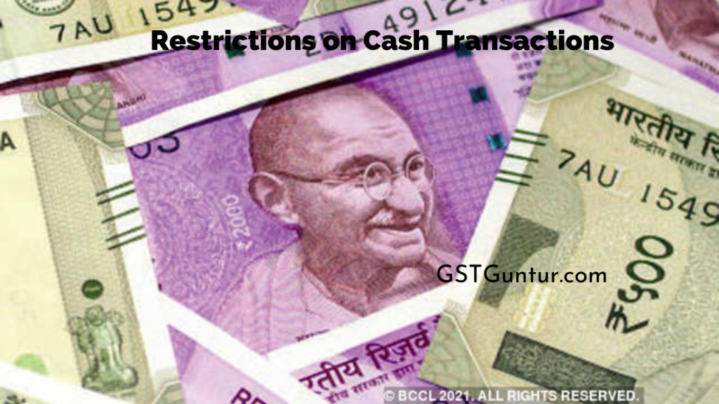 Restrictions on Cash Transactions
