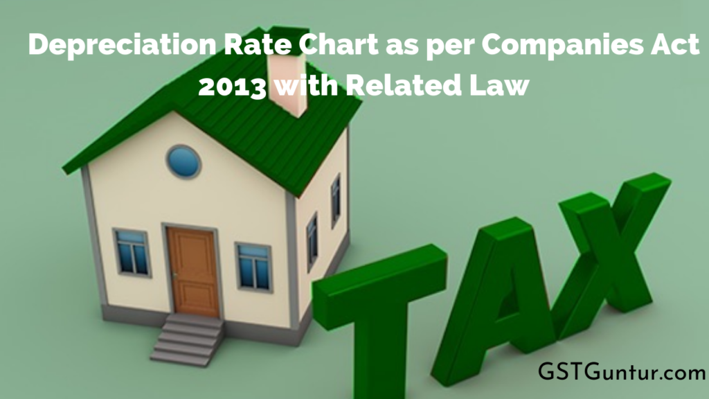 Depreciation Rate Chart as per Companies Act 2013 with Related Law