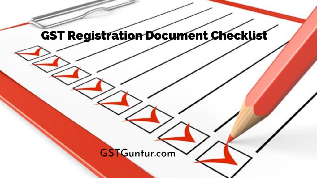 GST Registration Document Checklist