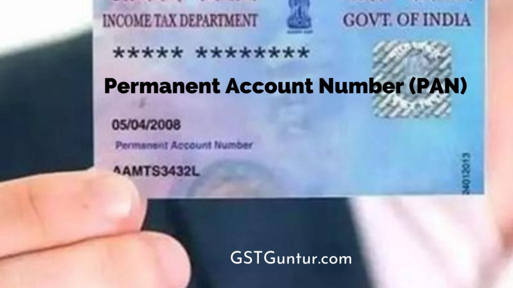 Permanent Account Number (PAN)