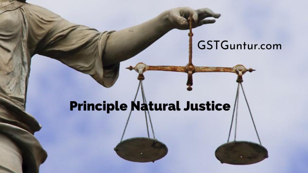 Principle Natural Justice