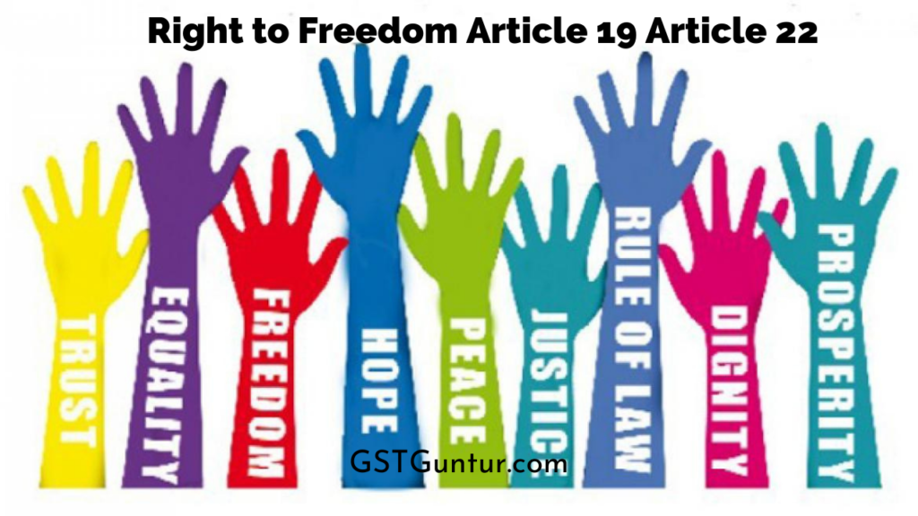 Right to Freedom Article 19 Article 22