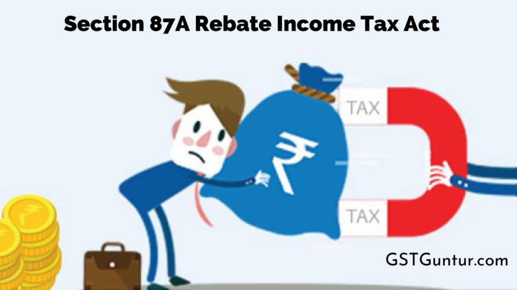 Section 87A Rebate Income Tax Act