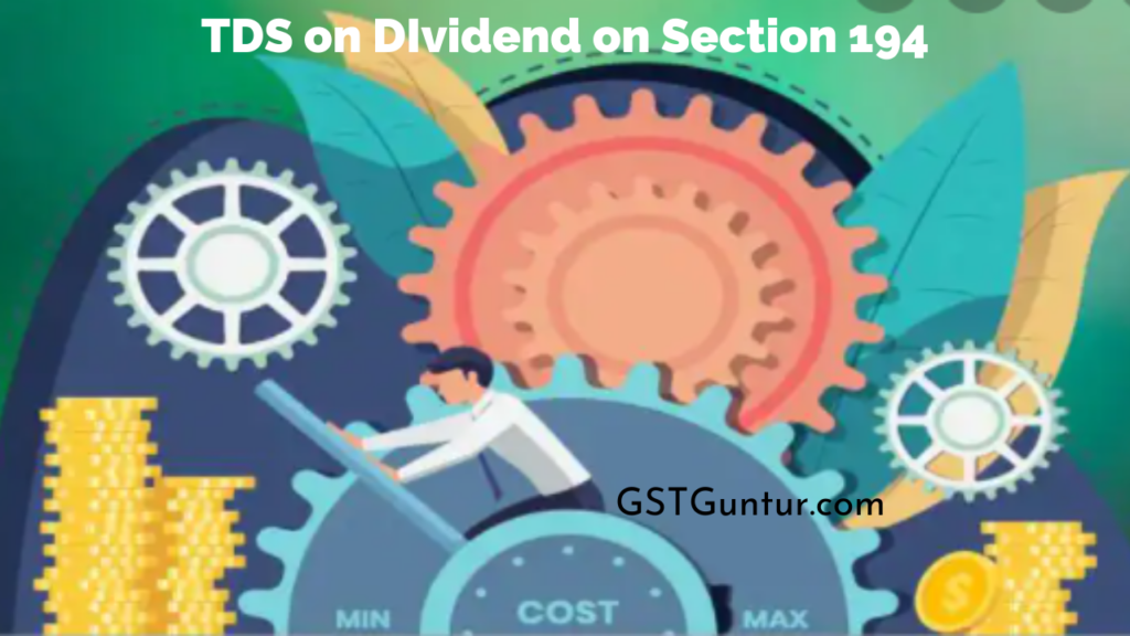 TDS on DIvidend on Section 194