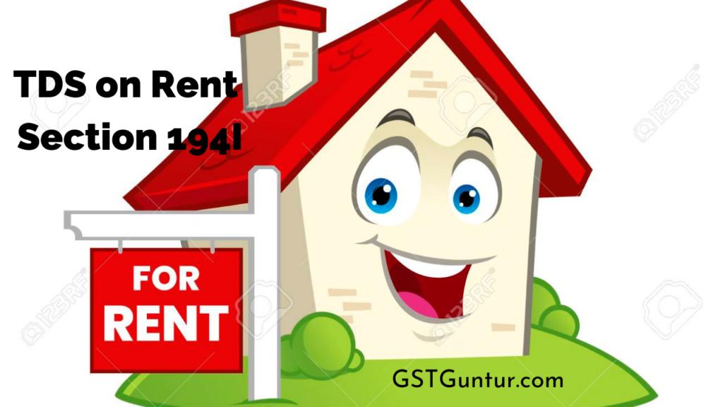 TDS on Rent Section 194I